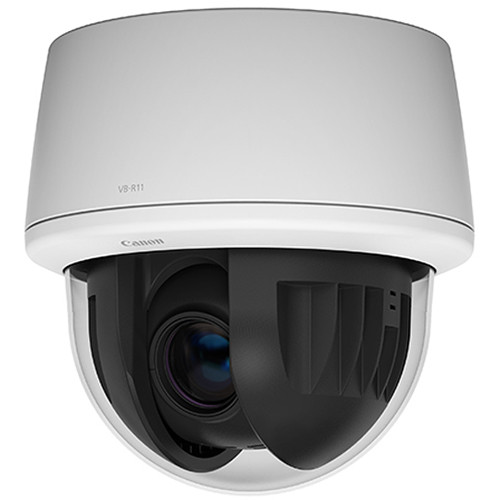 Canon VB-R11 1.3MP Indoor Speed Dome Network Camera with 4.4 to 132mm Varifocal Lens and Audio Connectivity