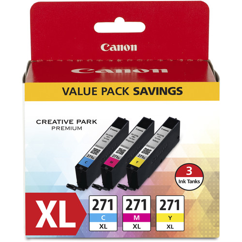 Canon CLI-271XL CMY Ink Tank 3-Pack