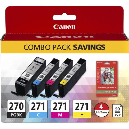 Canon PGI-270/CLI-271 CMYK 4-Cartridge Combo Pack
