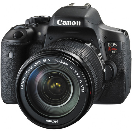 Canon EOS Rebel T6i DSLR Camera with 18-135mm Lens