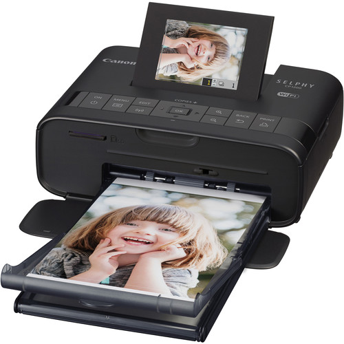 Canon SELPHY CP1200 Wireless Compact Photo Printer with NB-CP2LH Battery Pack (Black)