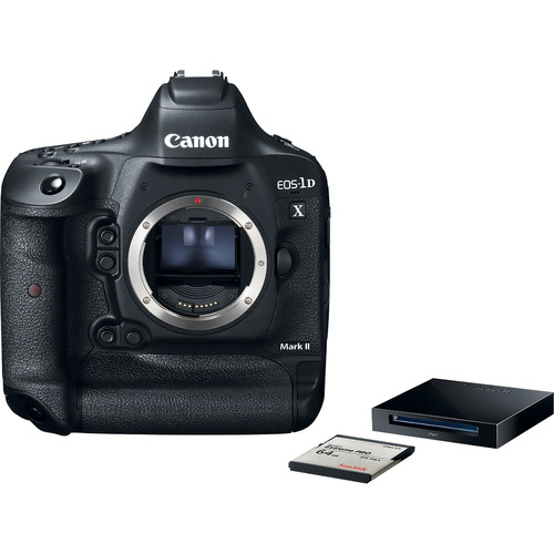 Canon EOS-1D X Mark II DSLR Camera Premium Kit with 64GB Card and Reader