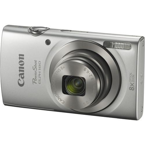Canon PowerShot ELPH 180 Digital Camera (Silver, Refurbished)
