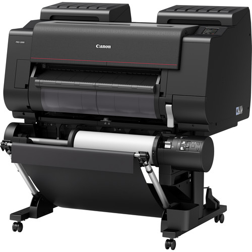 "Canon imagePROGRAF PRO-2000 24"" Professional Photographic Large-Format Inkjet Printer with Multifunction Roll System"