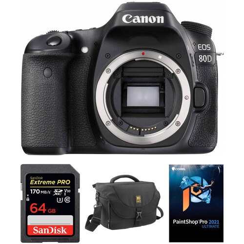 Canon EOS 80D DSLR Camera Body with Accessory Kit