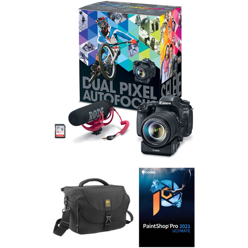 Canon EOS 80D DSLR Camera with 18-135mm Lens Video Creator Kit with Accessories Kit