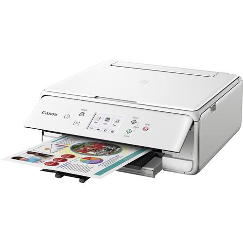 Canon PIXMA TS6020 Wireless All-in-One Inkjet Printer (White)