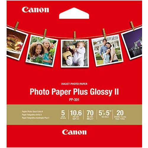 "Canon Photo Paper Plus Glossy II (5 x 5"")"