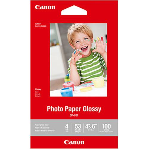 "Canon GP-701 Photo Paper Glossy (4 x 6"", 100 Sheets)"