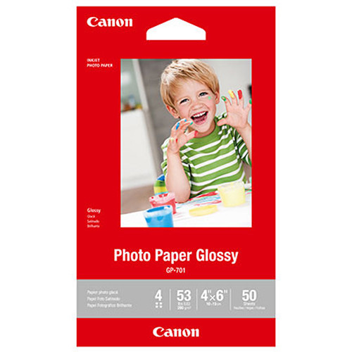"Canon GP-701 Photo Paper Glossy (4 x 6"", 50 Sheets)"