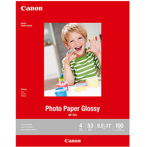 "Canon GP-701 Photo Paper Glossy (8.5 x 11"", 100 Sheets)"