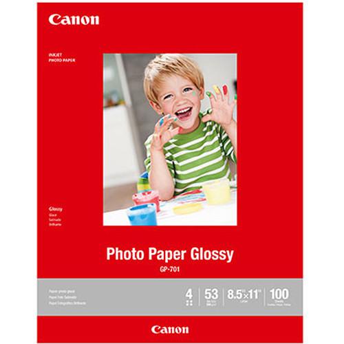 "Canon GP-701 Photo Paper Glossy (8.5 x 11"", 100 Sheets)"