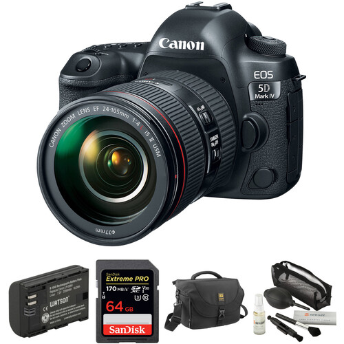 Canon EOS 5D Mark IV DSLR Camera with 24-105mm f/4L II Lens and Accessory Kit