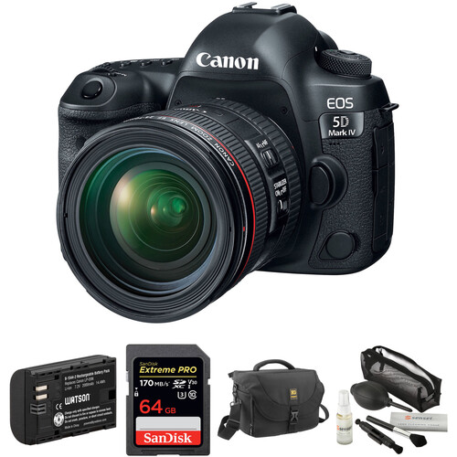 Canon EOS 5D Mark IV DSLR Camera with 24-70mm f/4L Lens and Accessory Kit