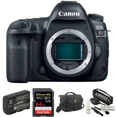 Canon EOS 5D Mark IV DSLR Camera with Canon Log and Accessory Kit