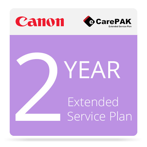 Canon 2-Year eCarePAK Extended Service Plan for iPF670 Printer & L24 Scanner