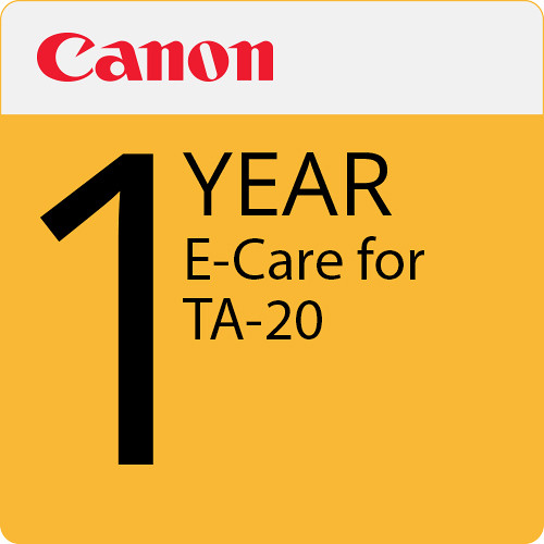 Canon 1-Year eCare Service Plan for imagePROGRAF TA-20 Color Printer