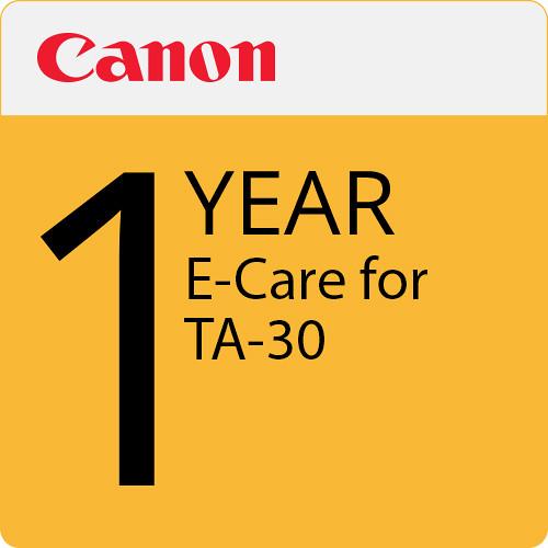 Canon 1-Year eCare Service Plan for imagePROGRAF TA-30 Color Printer