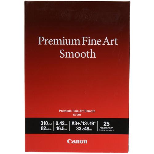 "Canon Premium Fine Art Smooth Paper (13 x 19"", 25 Sheets)"