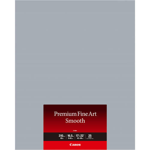 "Canon Premium Fine Art Smooth Paper (17 x 22"", 25 Sheets)"