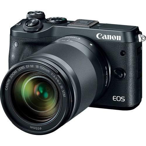 Canon EOS M6 Mirrorless Digital Camera with 18-150mm Lens (Black)