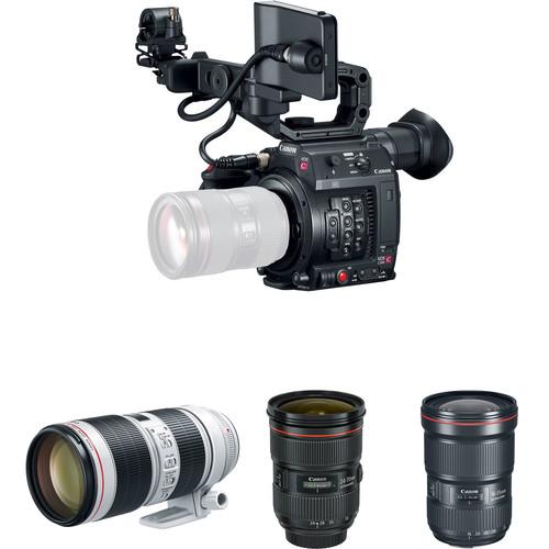 Canon EOS C200 Cinema Camera and Triple Lens Kit