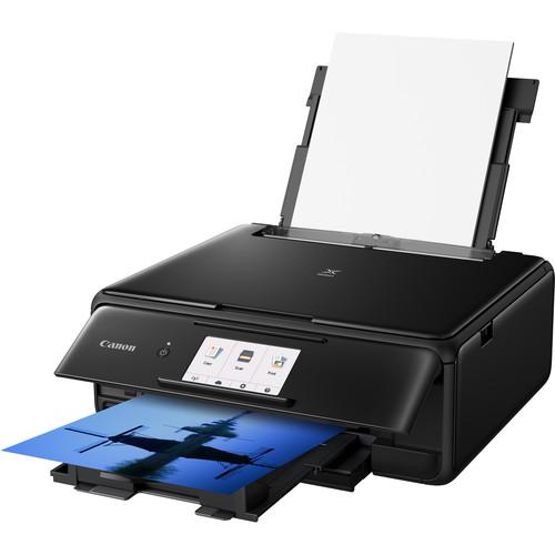 Canon PIXMA TS8120 Wireless All-in-One Inkjet Printer (Black)