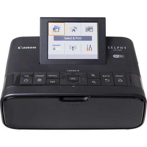 Canon SELPHY CP1300 Compact Photo Printer (Black)