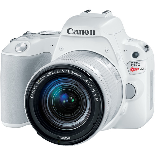 Canon EOS Rebel SL2 DSLR Camera with 18-55mm Lens (White)