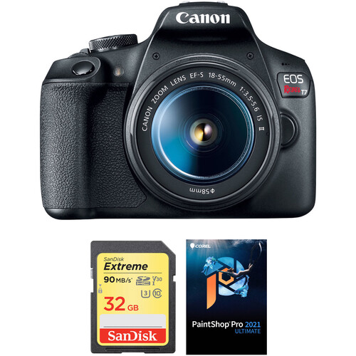 Canon EOS Rebel T7 DSLR Camera with 18-55mm Lens and Accessory Kit
