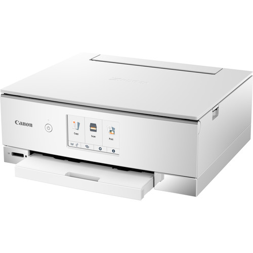 Canon Pixma TS8220 Wireless Inkjet All-In-One Photo Printer (White)