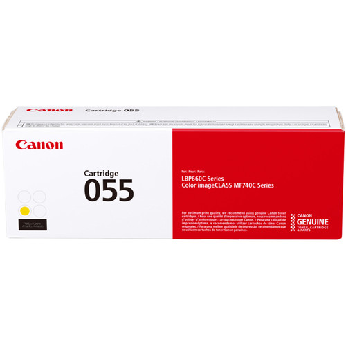 Canon 055 Standard-Capacity Yellow Toner Cartridge