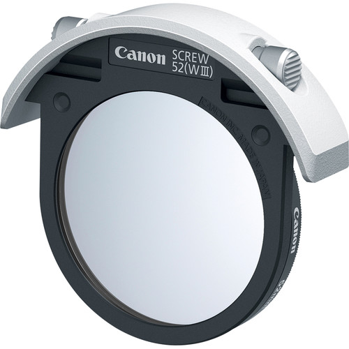 Canon Drop-In Screw Filter Holder 52 (WIII) with Protector Filter