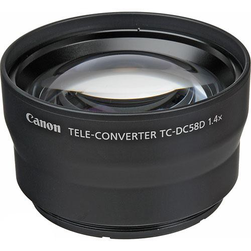 Canon TC-DC58D 58mm 1.4x Teleconverter Lens for PowerShot G10 Digital Cameras