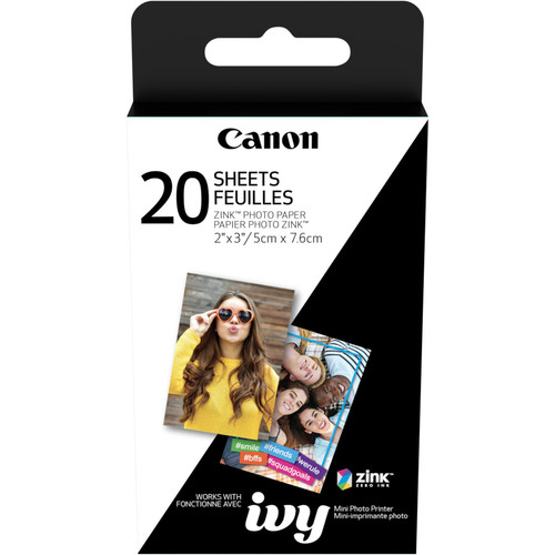 "Canon 2 x 3"" ZINK Photo Paper Pack (20 Sheets)"