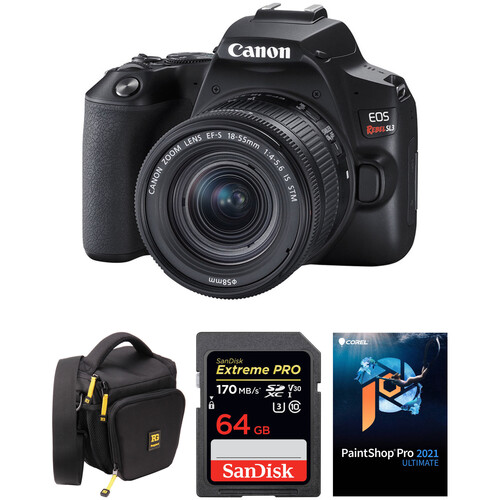 Canon EOS Rebel SL3 DSLR Camera with 18-55mm Lens and Accessory Kit (Black)