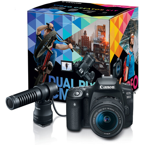 Canon EOS 90D DSLR Camera Video Creator Kit
