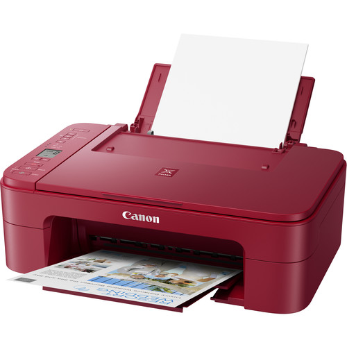 Canon PIXMA TS3320 Wireless Inkjet All-in-One Printer (Red)