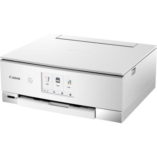 Canon PIXMA TS8320 Wireless Inkjet All-in-One Printer (White)