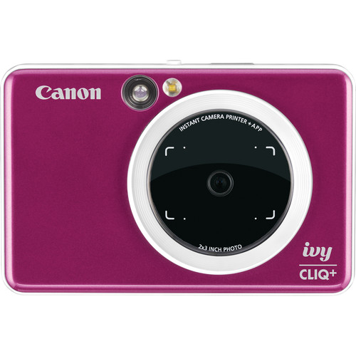 Canon IVY CLIQ+ Instant Camera Printer (Ruby Red)