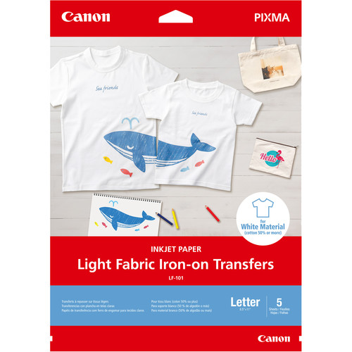 Canon Light Fabric Iron-On Transfers (5-Pack)