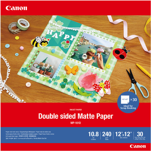 """Canon Double-Sided Matte Photo Paper (12 x 12"""", 30 Sheets)"""