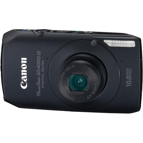 Canon PowerShot SD4000 IS Digital ELPH Camera (Black)