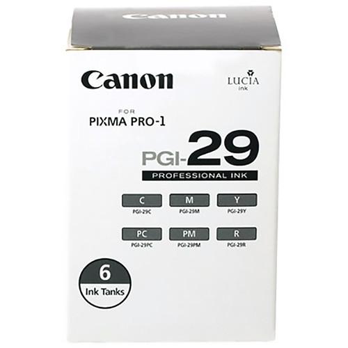 Canon PGI-29 Six-Color Ink Cartridge Set