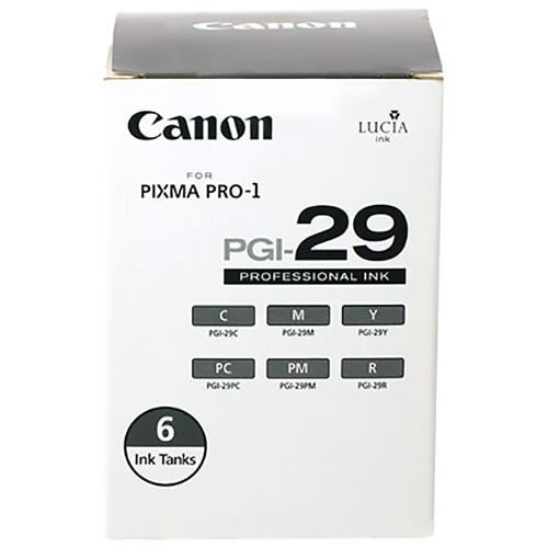 Canon PGI-29 Six-Color Ink Cartridge Set