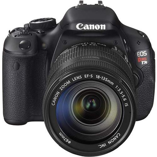Canon EOS Rebel T3i DSLR Camera W/EF-S 18-135mm f/3.5-5.6 IS Lens