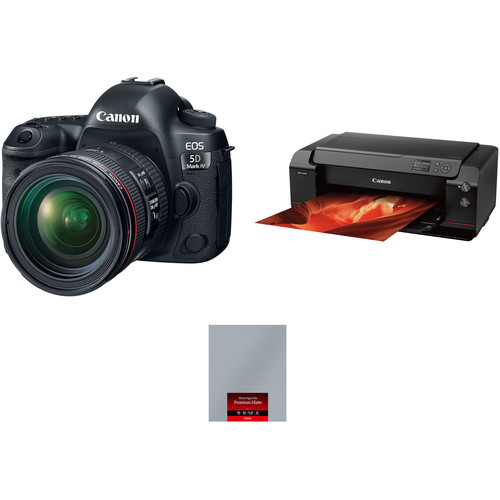 Canon EOS 5D Mark IV with 24-70mm f/4L Lens and Inkjet Printer Kit