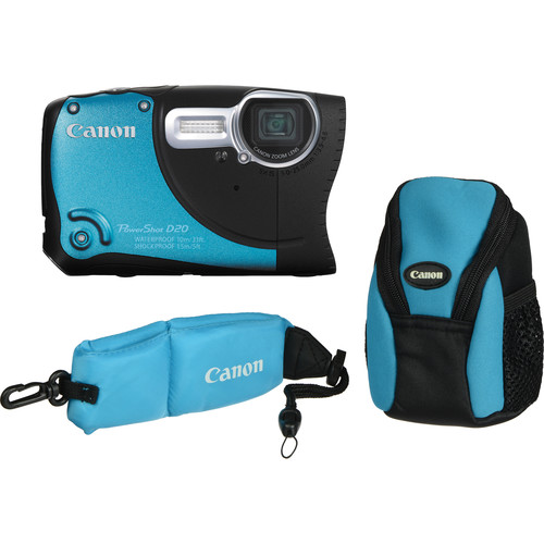 Canon PowerShot D20 Waterproof Digital Camera Kit (Blue)
