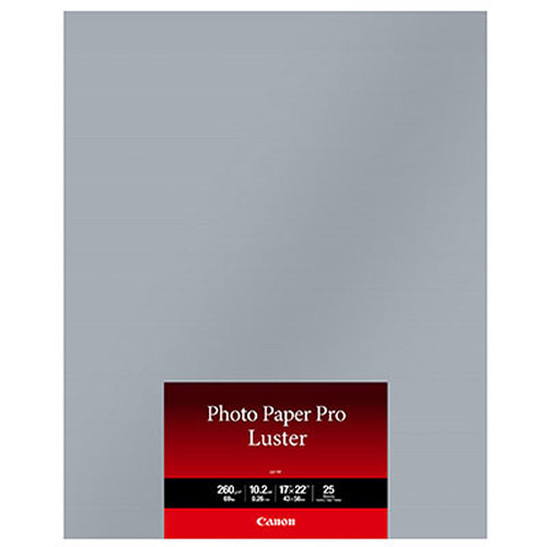 """Canon Photo Paper Pro Luster (17 x 22"""", 25 Sheets)"""