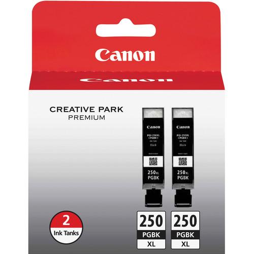 Canon PGI-250PGBK XL High-Capacity Pigment Black Ink Cartridge (2-Pack)